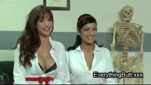 Three nurses are licking nipples and playing with those dildo things every day until they get satisfied