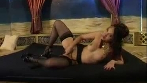 Two hot pornstars are doing their very best to make their client cum all over her tits